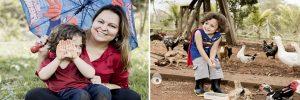 Sessão Book infantil ensaio lifestyle de família em sitio na região de betim