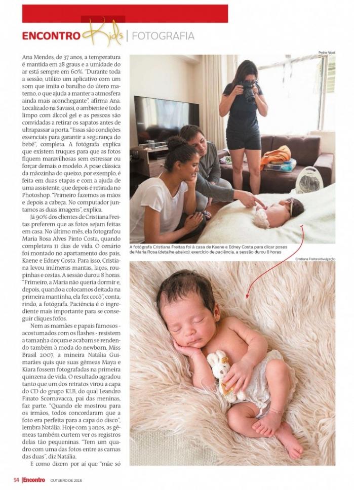 revista encontro cristiana freitas fotografia newborn BH