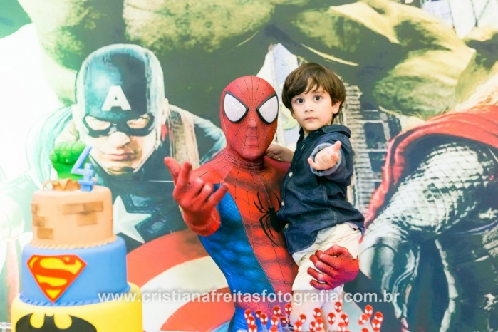 fotografia e filmagem festa infantil vila dos sonhos buffet infantil Comando da alegria homem aranha