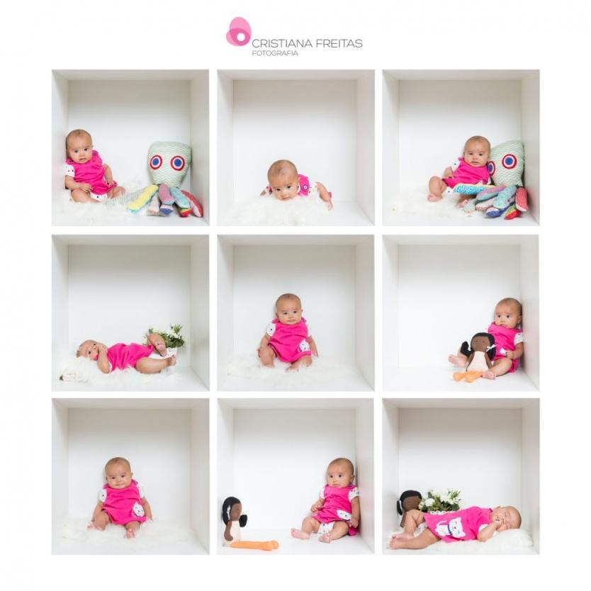 Mini Book Bebê 3 meses Fotografia no Cubo Bebê