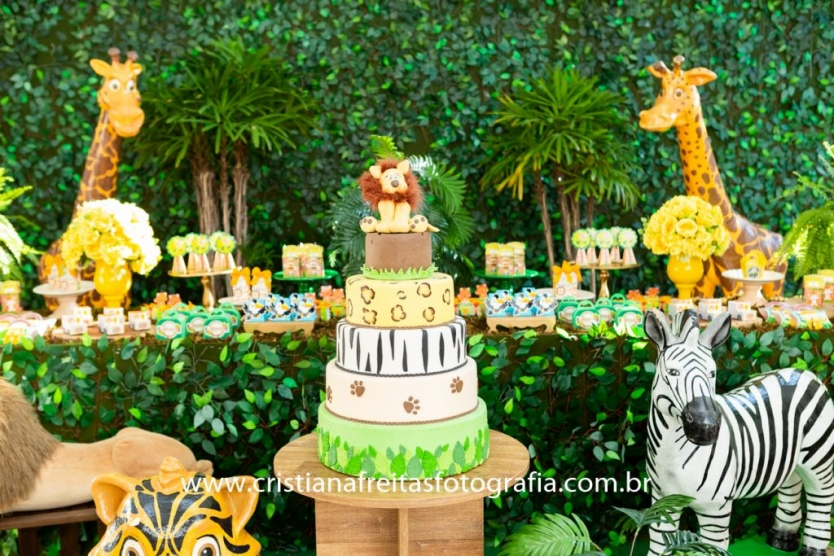 rapanui buffet infantil bh aniversario 1 ano festa safari