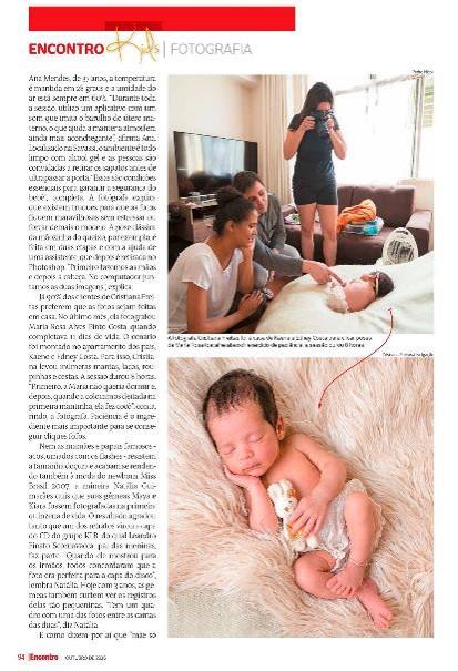 revista encontro BH fotografia newborn